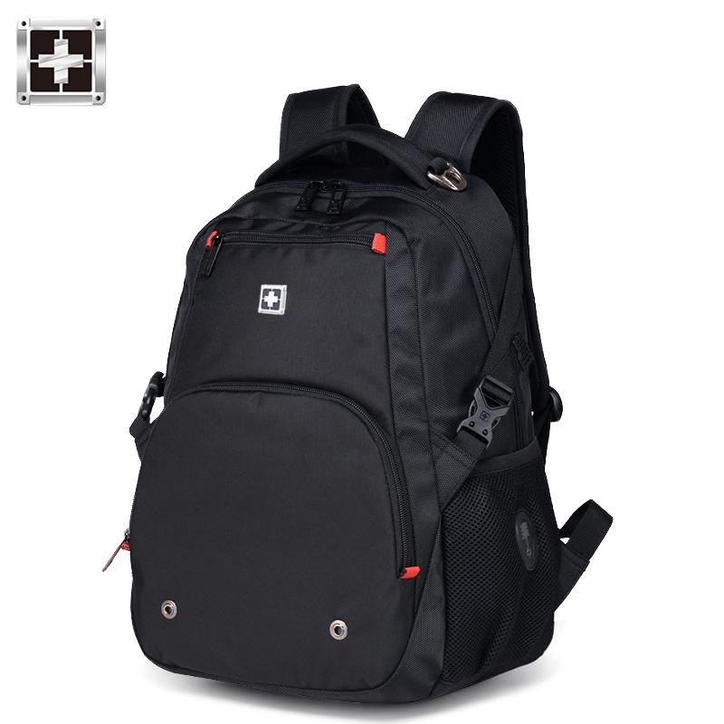 瑞士双肩包男士背包军刀商务电脑包大容量高中学生书包女运动休闲