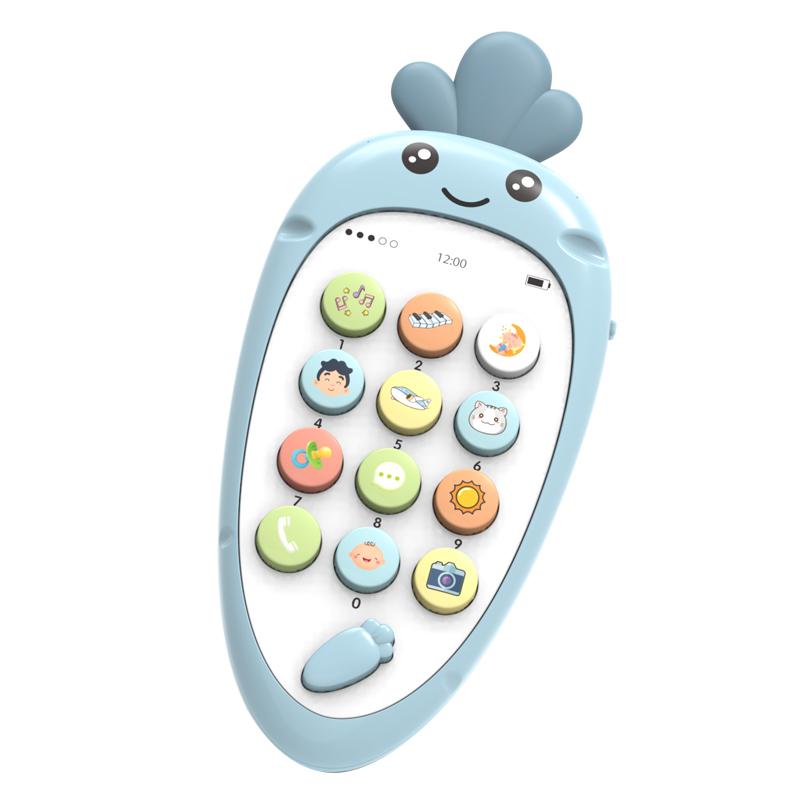 怀乐儿童手机玩具启蒙音乐手机0-3岁宝宝益智早教可咬仿真电话