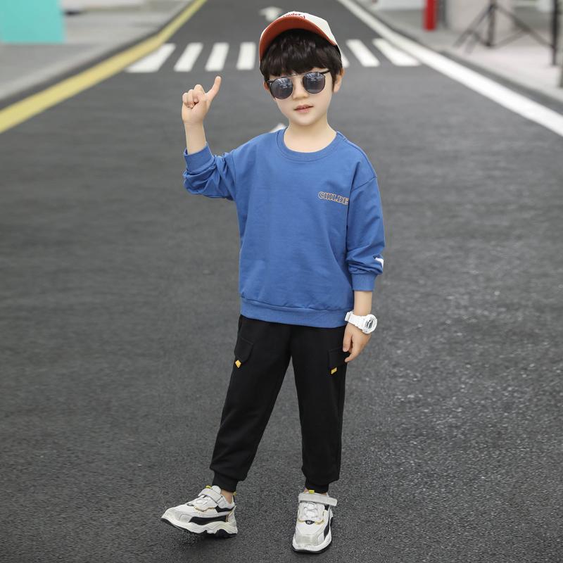 童装男童秋装2020新款洋气男孩休闲衣服帅气春秋季儿童卫衣套装潮