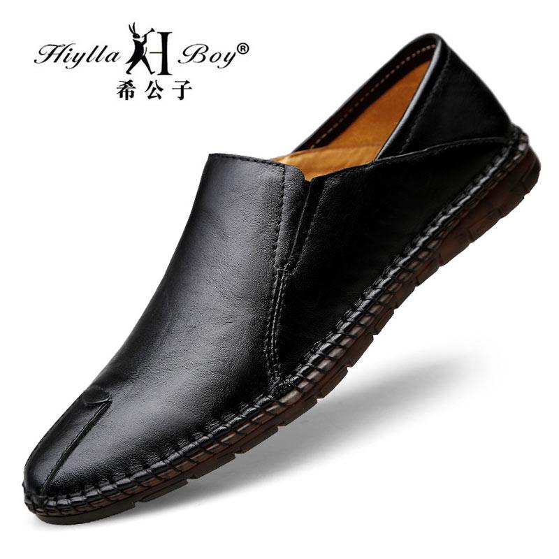 春季休闲鞋子男鞋真皮男士豆豆鞋韩版潮流懒人鞋软底一脚蹬皮鞋男