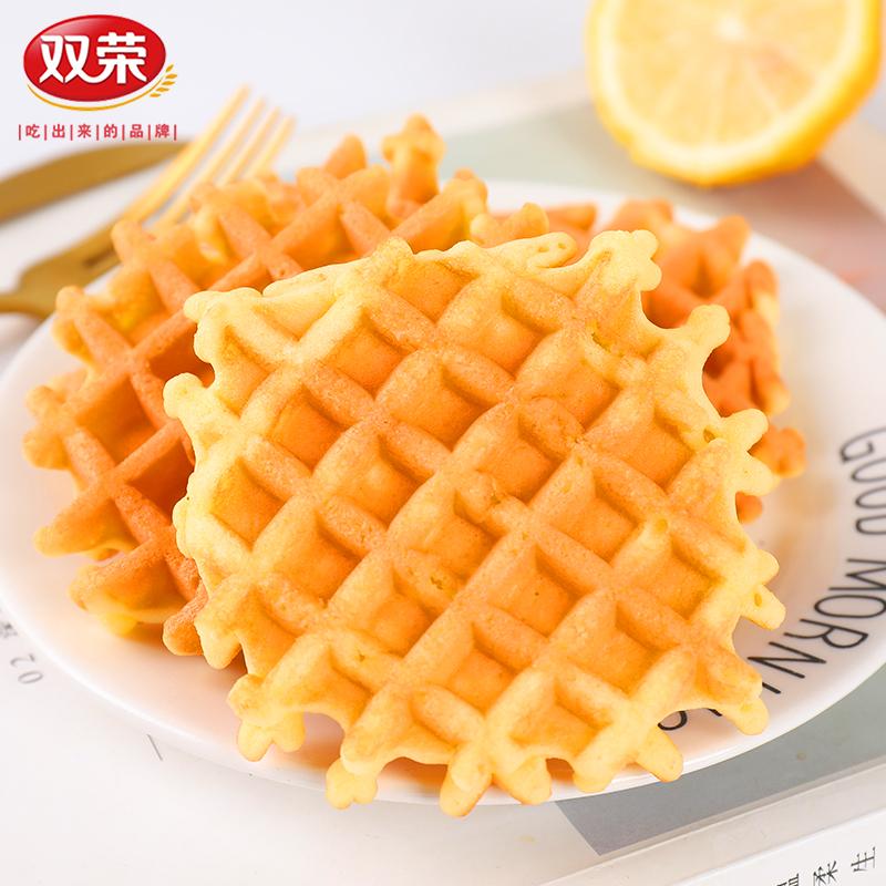 双荣软华夫饼整箱早餐面包网红小零食西式糕点心品格华夫营养早餐