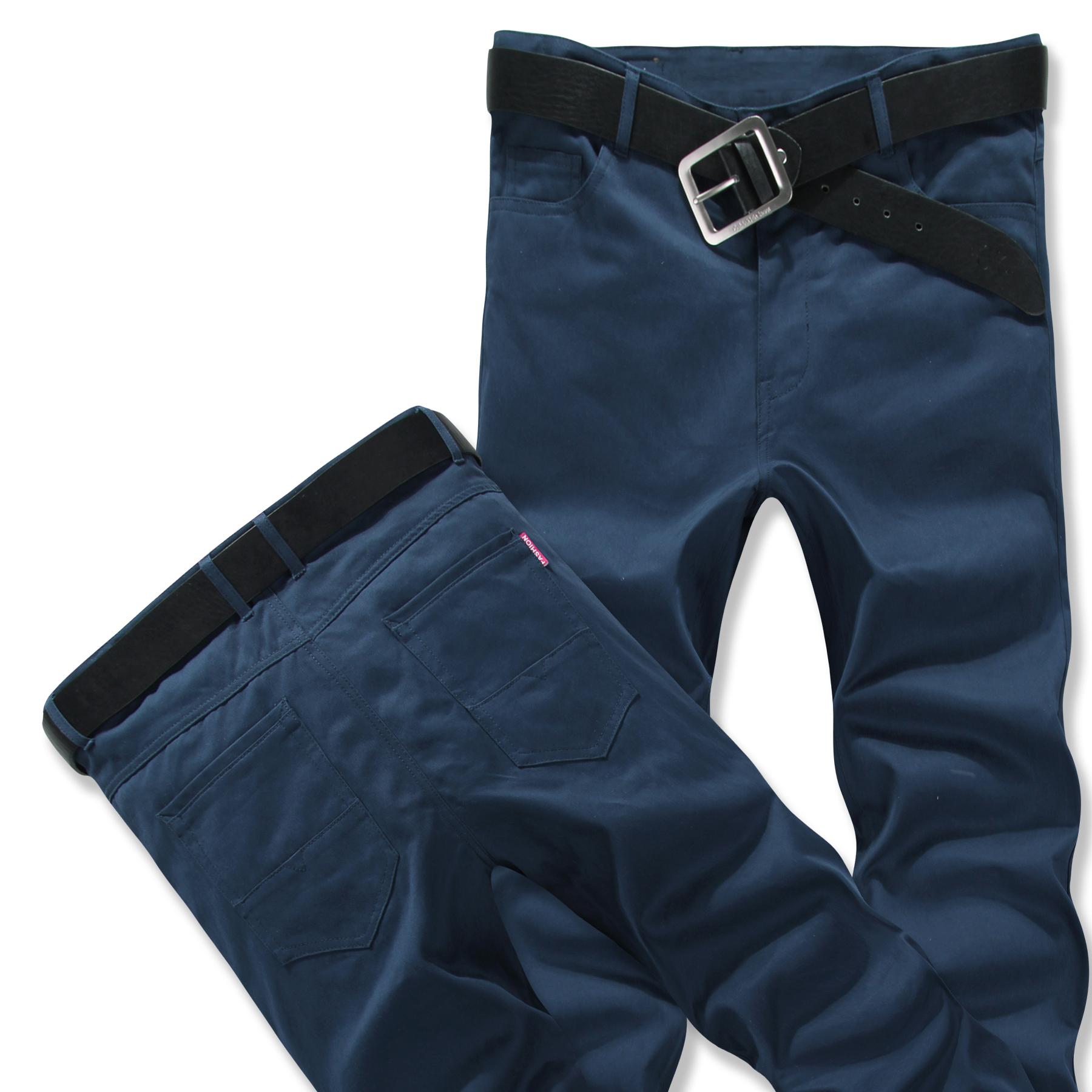 韩版男士休闲裤纯色青年工装裤长裤大码纯棉裤子c03mMQdpqt