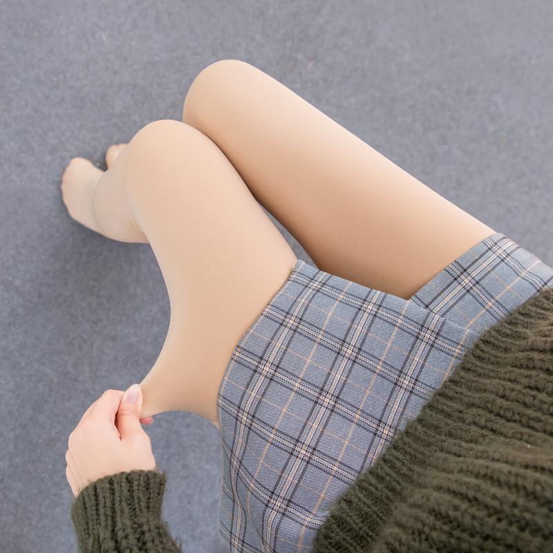 秋冬季光腿打底裤女内穿薄款外穿神器肉色加绒2018新款保暖连裤袜