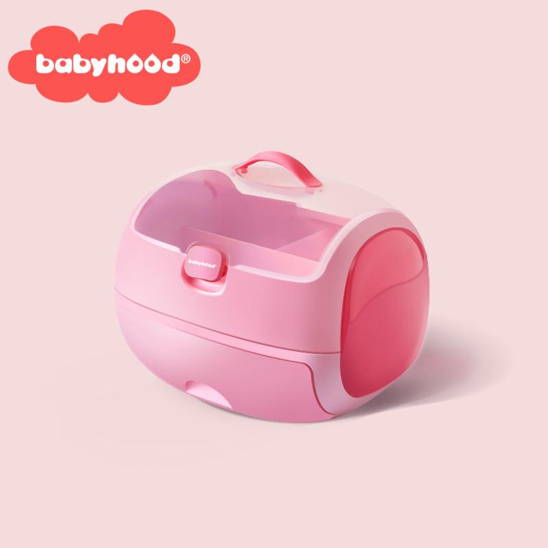 世纪宝贝婴儿幼儿防尘护理收纳箱宝宝用品大号保洁带盖双层收纳盒