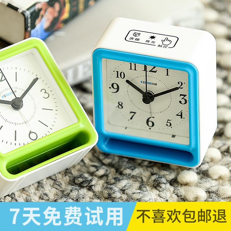 创意多功能静音床头智能闹钟USB可充电学生卧室数字式夜光小时钟