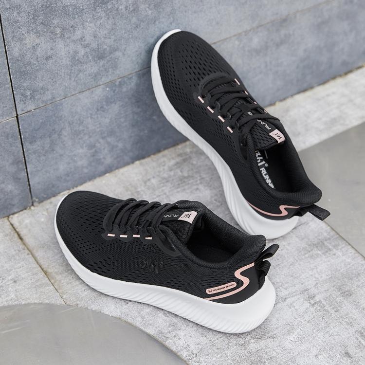 361女鞋跑步鞋2021春季新款网面透气休闲鞋百搭轻便鞋子女运动鞋