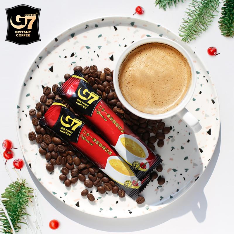 正品越南进口中原G7咖啡原味三合一速溶咖啡粉散装90条冲饮包邮