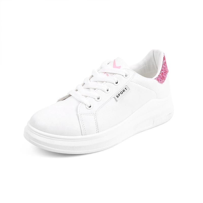 韩版ins小白鞋女秋冬季新款平底韩版学生ulzzang2018牛皮板鞋女鞋