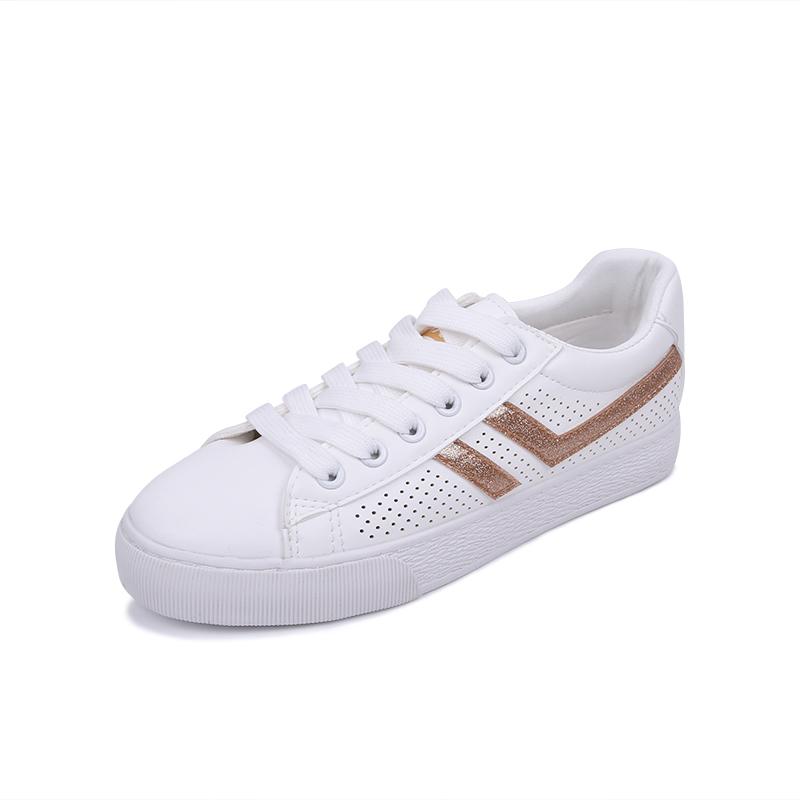镂空透气小白鞋女18夏季新款chic港味板鞋ins牛皮女鞋
