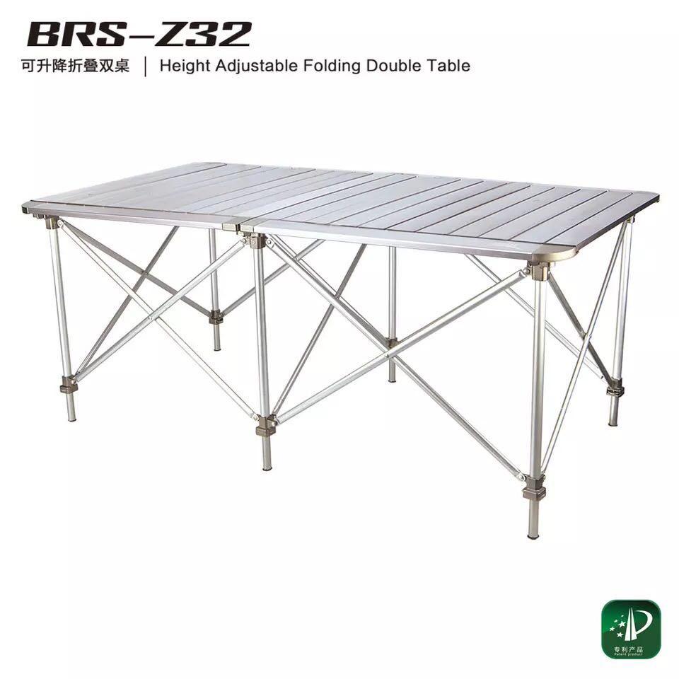 户外铝合金折叠桌椅升降兄弟BRSZ3132便携式超轻野营烧烤野餐桌子
