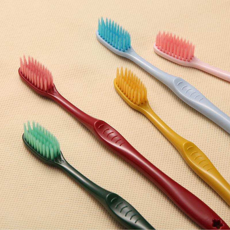 30支牙刷软毛成人款超细软家用竹炭纳米牙刷儿童小头男女士家庭装