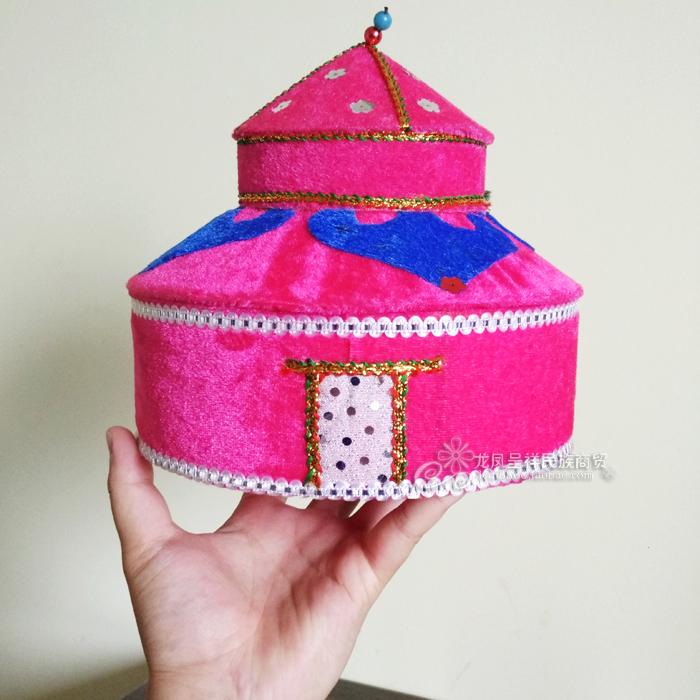 蒙古族特色工艺品仿真蒙古包造型首饰盒收纳盒内蒙古