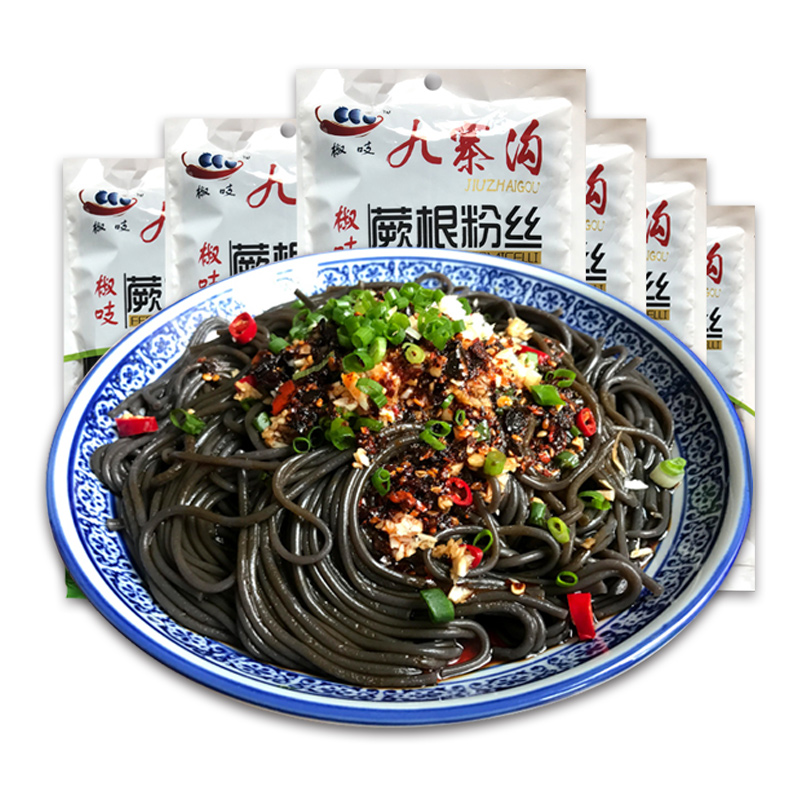 四川椒吱蕨根粉丝200g*6袋 美味厥根粉酸辣粉凉拌川菜粉条粉皮