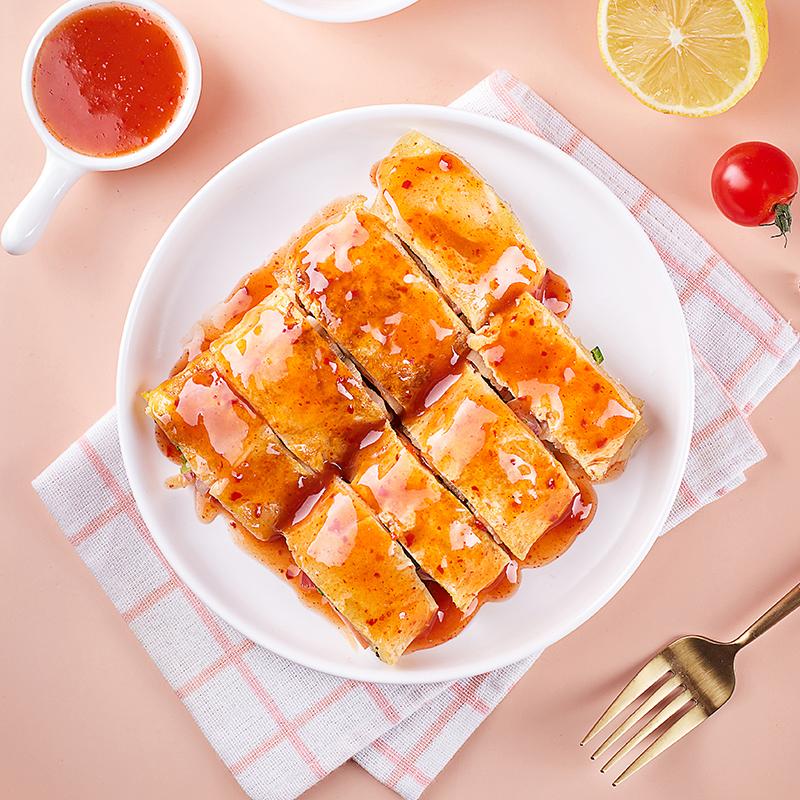 奥斯托马_正宗东北烤冷面2袋组合家庭装带酱料早餐小吃大冷面
