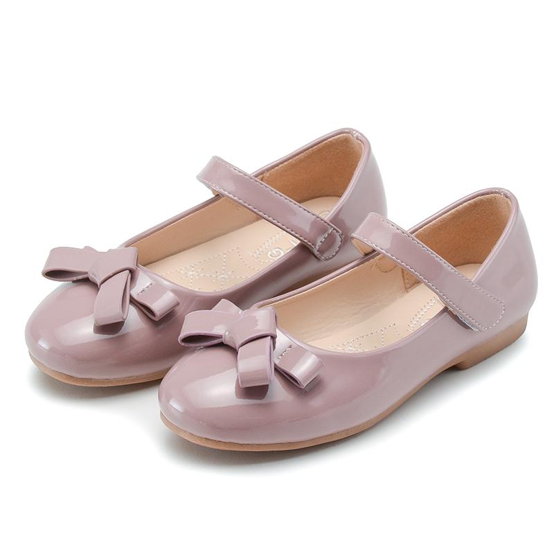 女童单鞋软底红色小皮鞋韩版时尚百搭黑色公主鞋魔术贴儿童表演鞋