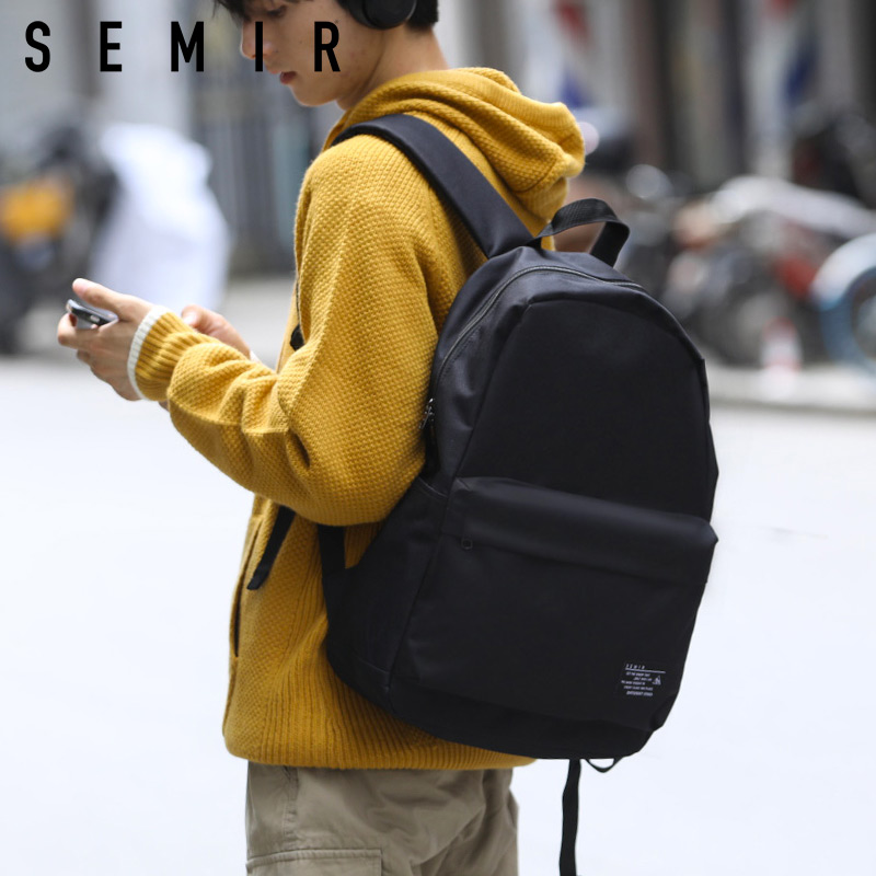 森马双肩包女韩版休闲简约电脑背包初中学生书包男时尚潮流旅行包
