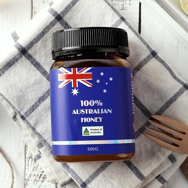 阳光农场澳洲原装进口雨林蜂蜜500g纯正天然野生结晶土蜂蜜百花蜜