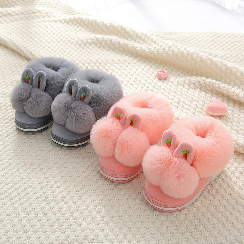 儿童棉拖鞋宝宝包跟秋冬女宝宝男童软底室内防滑1-3岁5小孩居家鞋