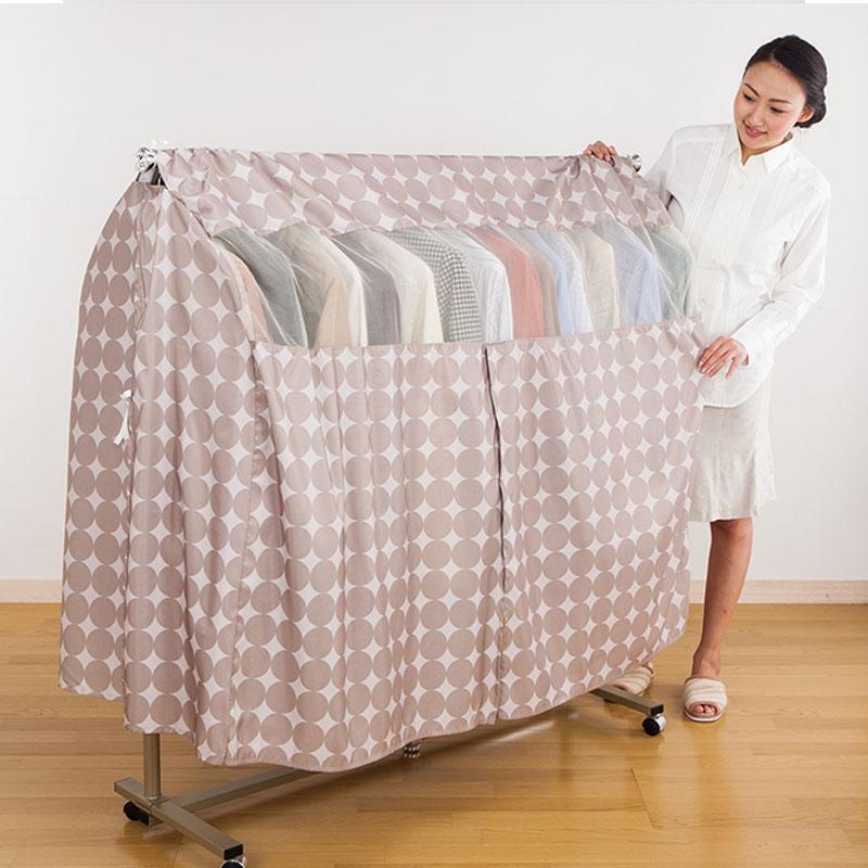 日本落地衣架防尘罩布套遮衣布家用衣服收纳袋子挂衣物立体防尘袋