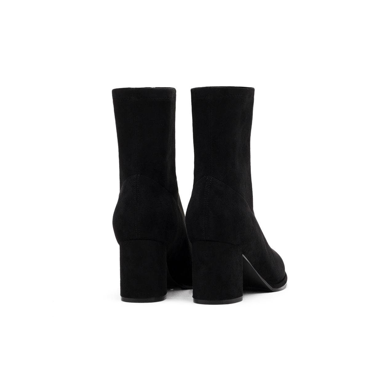 秋冬新款粗跟短靴女女单靴高跟弹力靴潮 2019 星期六瘦瘦靴 Sat & St
