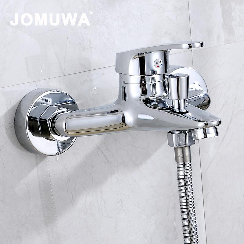 九牧王浴缸三联淋浴冷热水龙头洗澡混水阀浴室全铜热水器花洒套装