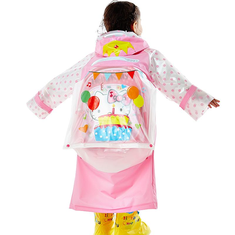 儿童卡通长款雨衣男童女童带书包位宝宝雨衣小学生大帽檐加厚雨披