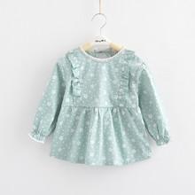 宝宝罩衣 纯棉防水反穿衣 儿童女孩围兜女童罩衣婴儿长袖吃饭围裙