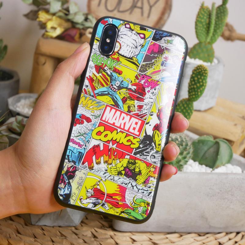 漫威钢铁侠美队手机壳玻璃iphonexsmax8plusr76oppovivo华为小米9