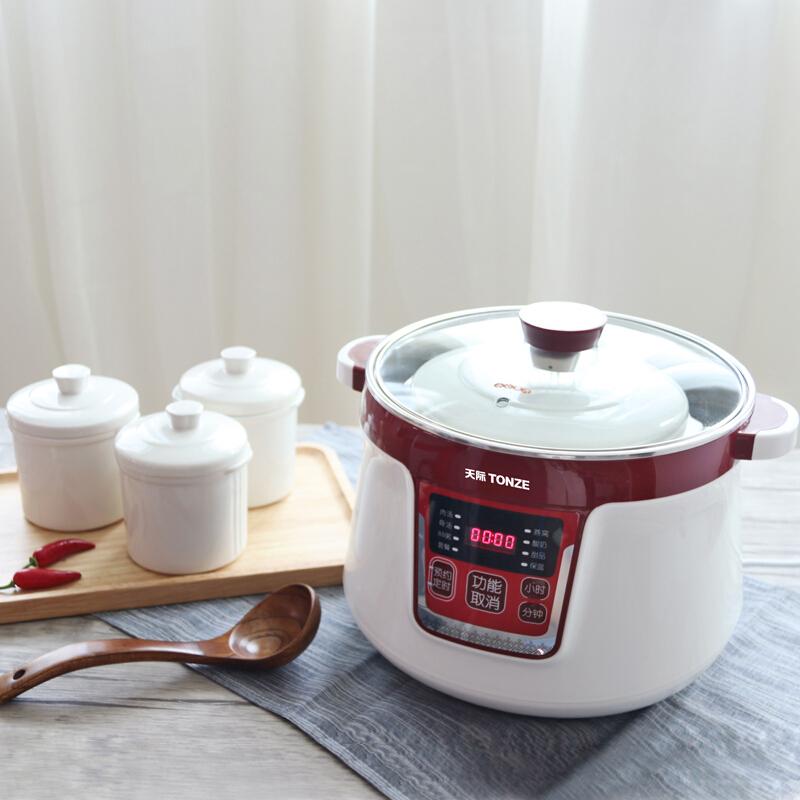 天际隔水电炖锅白瓷燕窝炖盅煲汤锅煮粥锅一锅四胆大容量全自动锅