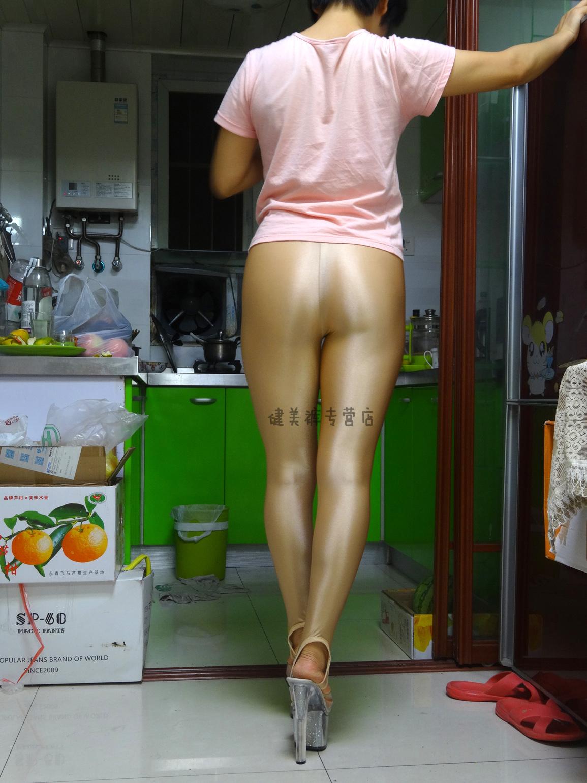 健美裤踩脚紧身裤打底裤靴裤肉色超薄氨纶超柔超光沢