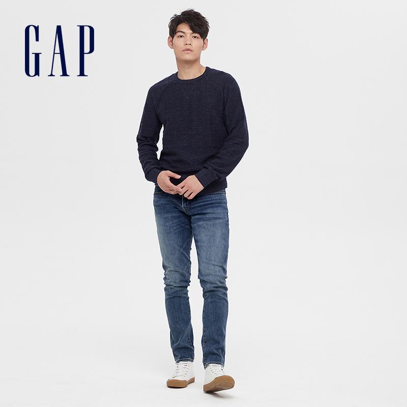 gap男装时尚修身秋季新款水洗裤子