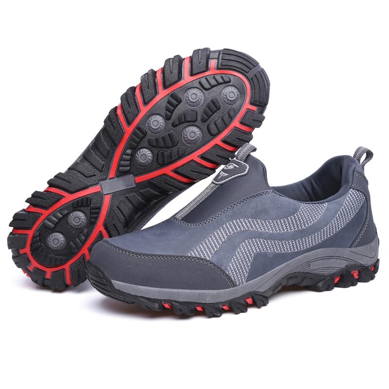秋季中老年健步鞋男鞋跑步鞋中年爸爸妈妈鞋安全舒适老人运动鞋子