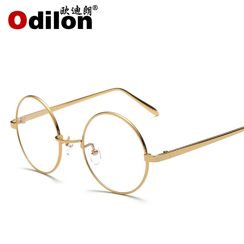 复古金属防辐射眼镜防蓝光电脑护目镜男女圆平光镜可配