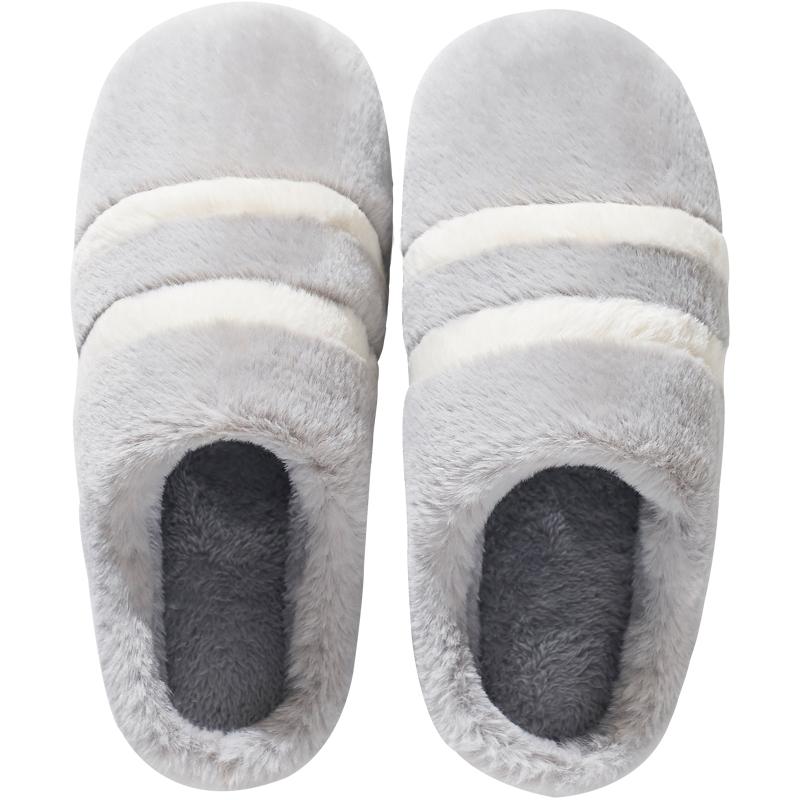 棉拖鞋男冬季家用情侣冬天男士毛毛拖鞋女冬家居室内居家厚底保暖