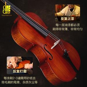 【音艺】大提琴初学者手工虎纹成人演奏儿童专业级大提琴入门乐器