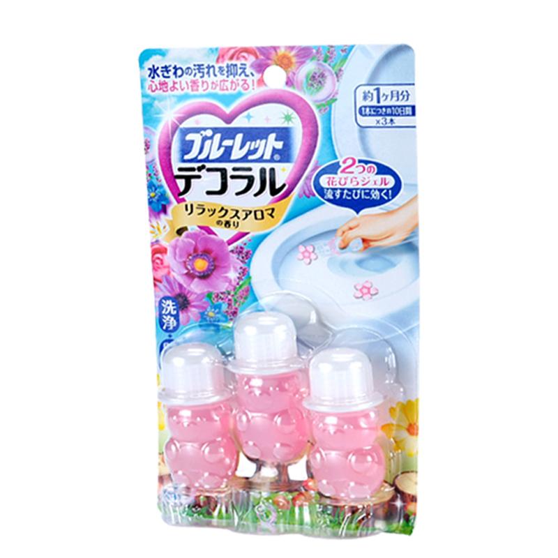 【小林制药】洁厕灵凝胶花瓣自然花香马桶除臭去异味小花清洁剂