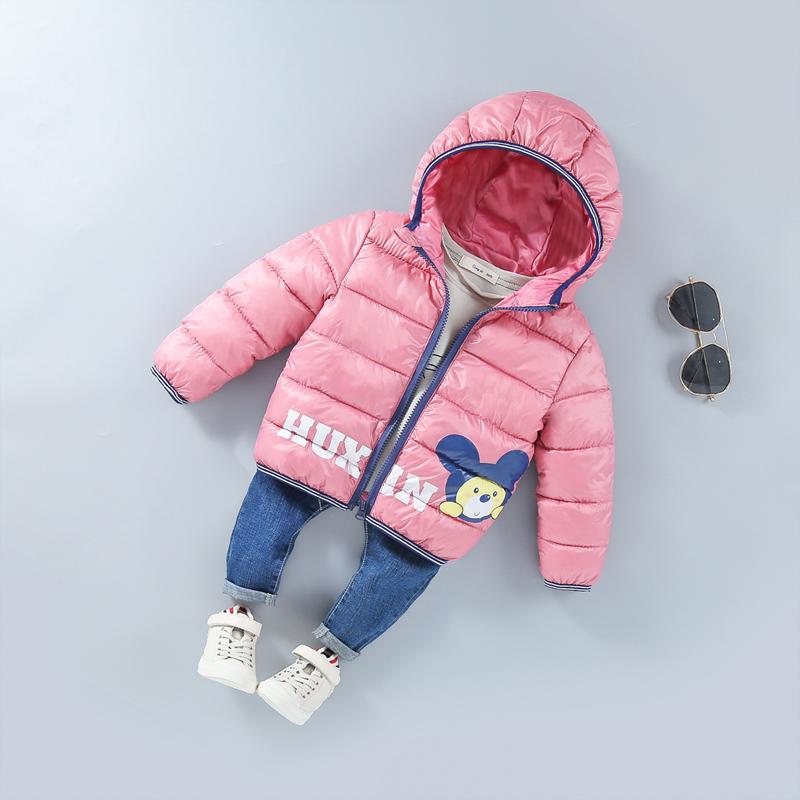 反季儿童羽绒棉服冬季男童女童轻薄款棉服中小童宝宝短款小熊外套