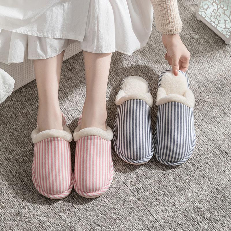 棉拖鞋家居春秋冬室内男女情侣居家用厚底防滑保暖冬天毛棉鞋月子