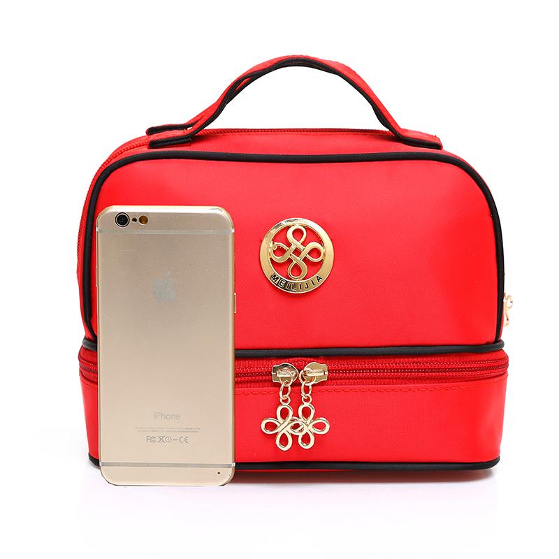 韩国大容量双层化妆包便携旅行大号化妆品收纳包可爱防水洗漱包