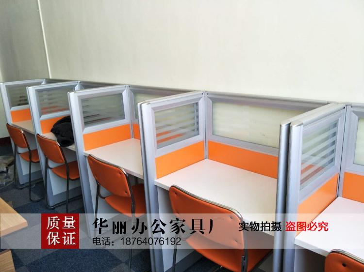 山东济南办公家具厂一对一教学桌优胜课桌椅自习桌聚能教育屏风办
