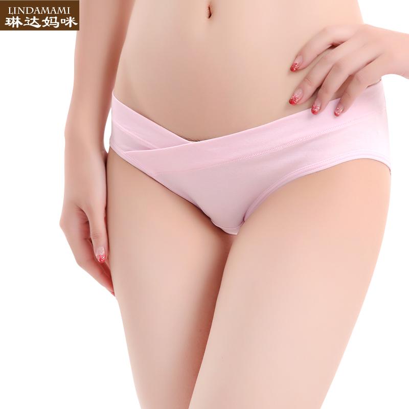 孕妇内裤95%棉怀孕期春夏低腰托腹无痕产妇透气三角裤大码内裤