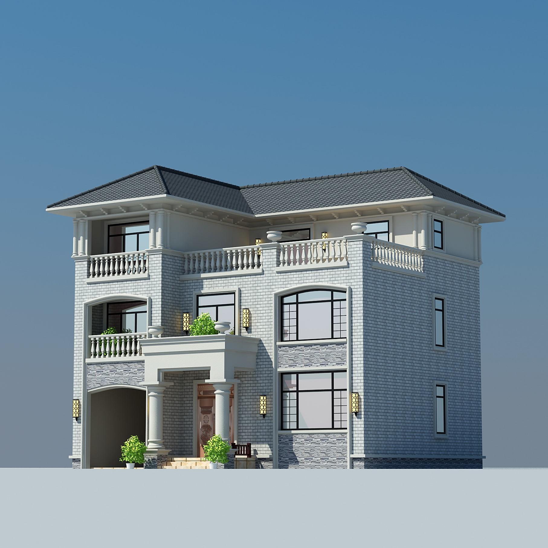 小图纸设计图纸自烹饪方式图纸设计农村三层7.2别墅建房获取别墅图片
