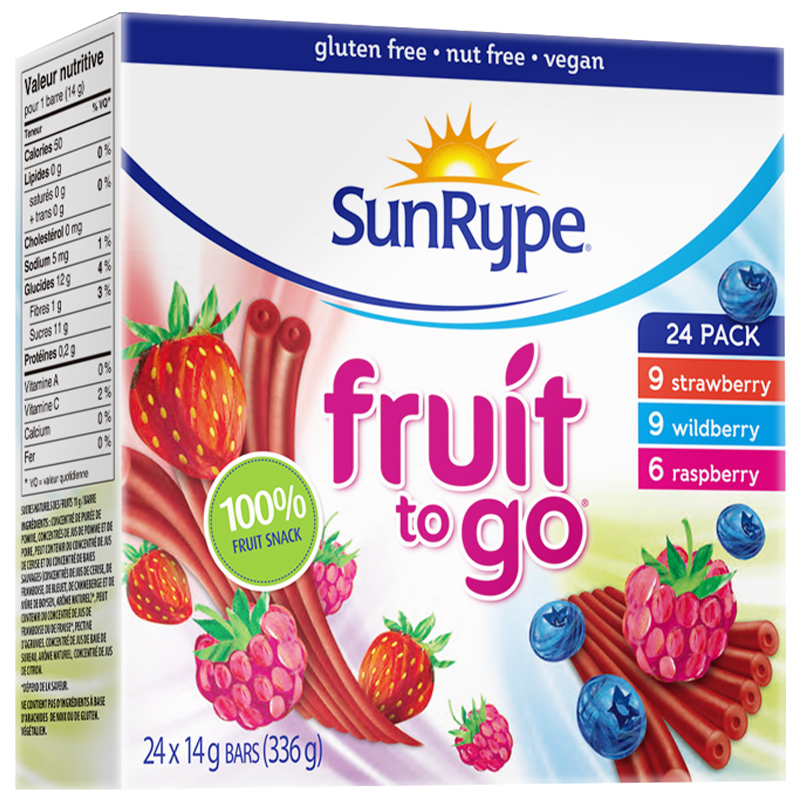 SunRype水果条24条婴幼儿果丹皮无添加儿童宝宝婴儿健康营养零食