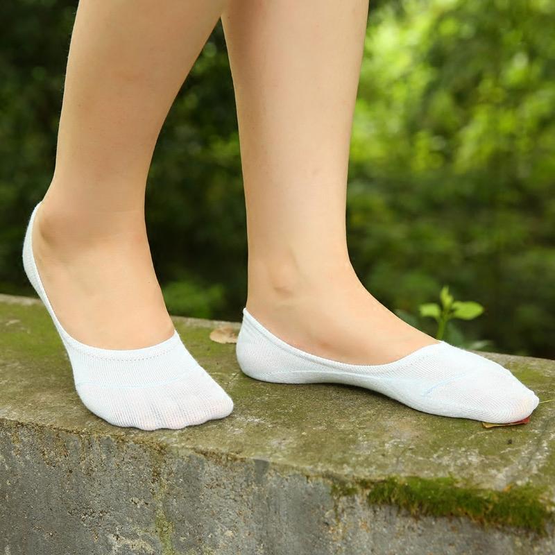 床袜子女船袜短袜纯棉浅口隐形白色脚底袜套硅胶防滑秋夏韩国可爱