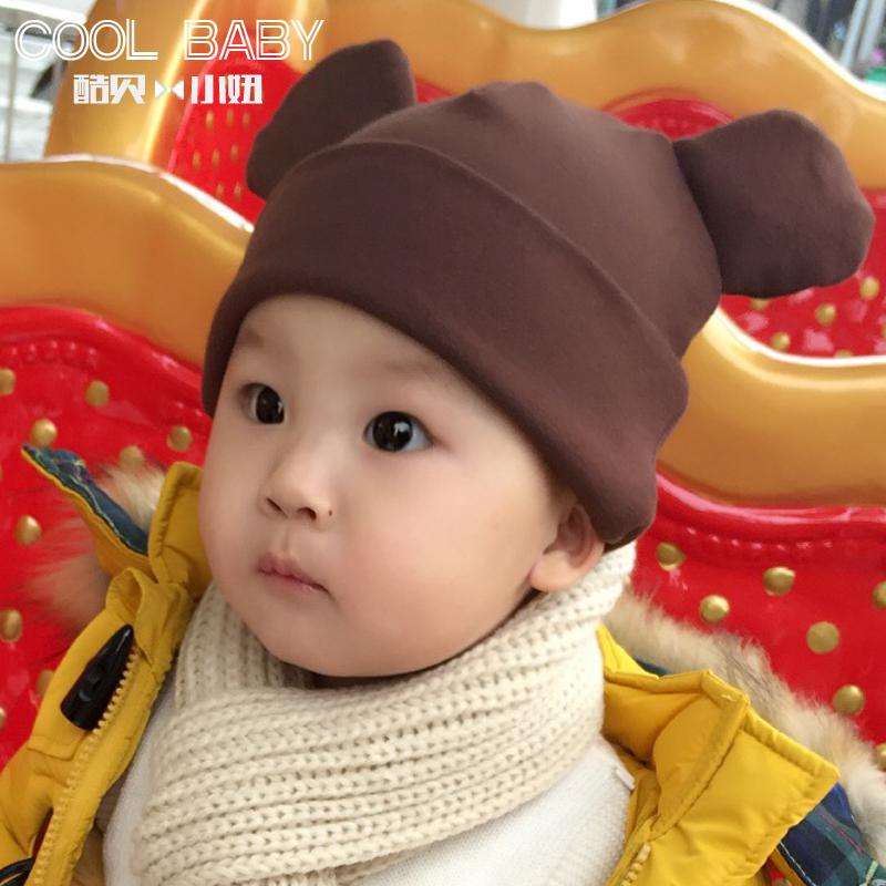 男女小宝宝0-3-6-12个月春秋冬季婴儿童帽子纯棉1-2岁新生儿胎帽