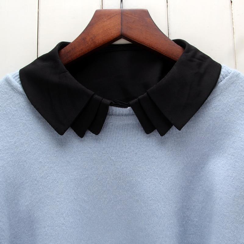 毛衣装饰韩版假领子女百搭黑白色衬衫假领打底衬衣领子秋冬假衣领