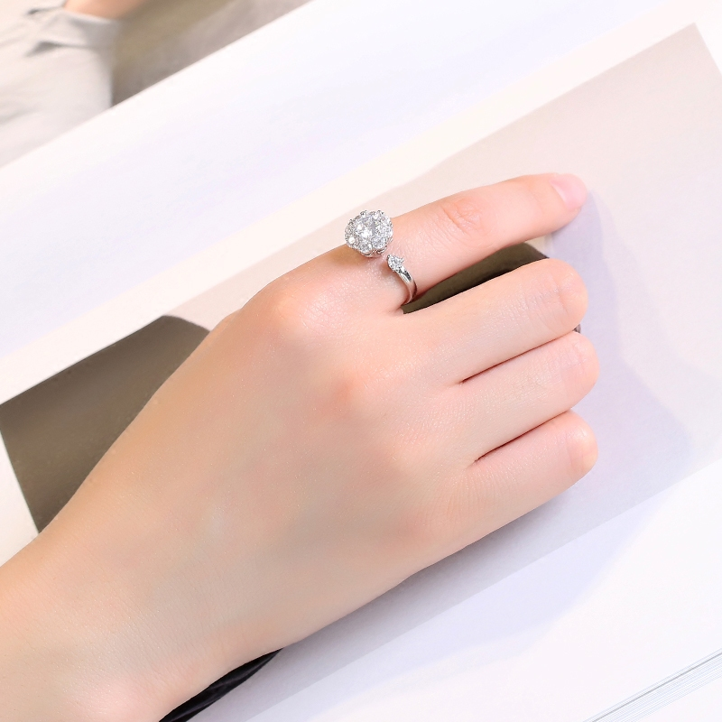 抖音同款旋转戒指女 网红 转动时来运转会旋转的戒指魔戒韩版饰品