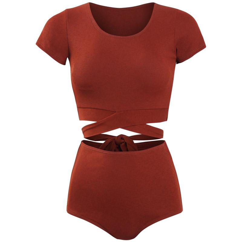 新款泳衣女保守分体式显瘦遮肚泳装韩国ins风性感网红温泉游泳衣