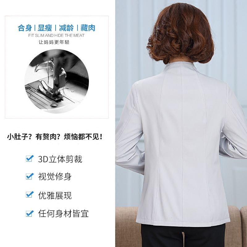 中国民族风40-50岁刺绣花妈妈装春装季上衣中老年女装两面穿外套