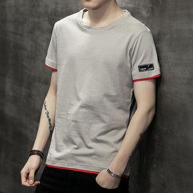 t恤男短袖夏季2018新款韩版潮流半袖衣服男士长袖体恤衫男装卫衣